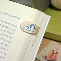 [플라스틱&자석 자동책갈피수지인] 써니고양이(베이지)