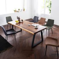 [채우리] 모두 6인 뉴송 우드슬랩 식탁세트(의자)
