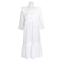 [쿠비카]바스트 프릴 레이스 면 원피스 여성잠옷 W712