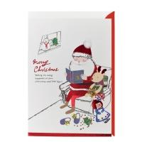 크리스마스카드/성탄절/트리/산타 책읽어주는 산타(FS1016-5)