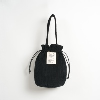 Strap Bucket Bag (Black) - P005B_BL