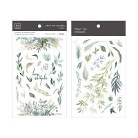 Miccudo 프린트-온 스티커 Ver.2 (26. Green Leaves)