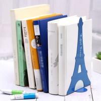에펠탑 북엔드 2p세트(블루) L자형 책고정 책꽂이
