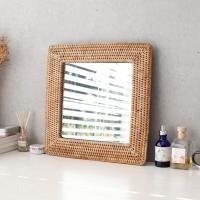 라탄 디자인 거울 - 사각 대