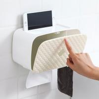 다용도 욕실 수납 휴지케이스 1개(색상랜덤)