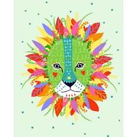 [DIY 그림그리기]  아티스트 장현아 일러스트 - 사자  (물감2배, 컬러캔버스, DIY 명화그리기, 유화, 액자, 그림, 동물, 일러스트)