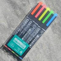 [ZEBRA] 트윈닙 형광펜 5색 세트-일본 제브라 옵텍스케어 WKCR-5C