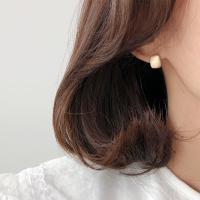 14K 무광 빈티지 원터치 귀걸이