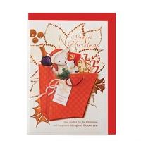 크리스마스카드/성탄절/트리/산타 선물을 너에게(FS204-6)