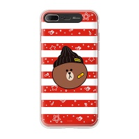 iPhone7 8 Plus LINE FRIENDS BROWN STRIPE Light UP