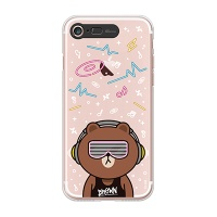 iPhone7 8 LINE FRIENDS BROWN CLUB Light UP Case