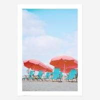여름바다해변풍경포스터vol.1_SB04(핑크비치파라솔)