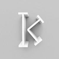 미니큐빅스 이니셜 벽선반-K
