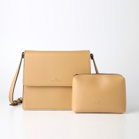 Trapezoid Cross Bag (Beige) - P007C_BE
