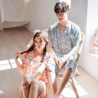 [쿠비카]레이온 스토리 과일 투피스 커플잠옷 WM157