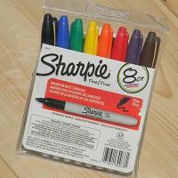 [SANFORD] 미국인이 사랑하는 유성펜-샌포드 샤피 유성마카 Fine 8색세트 HF107-4