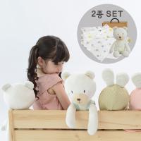 [CONY]꼬마곰애착인형+오가닉스카프(유아선물세트)