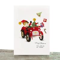 크리스마스카드/성탄절/트리/산타 산타와 자동차 FS1022-2