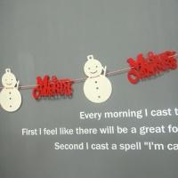 눈사람 크리스마스 가렌드