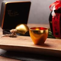 왕의잔 방짜유기에 24k 금박 천연옻칠 금술잔 황금잔