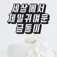 [인디고샵] 자유한글 입체 맞춤 케이크토퍼