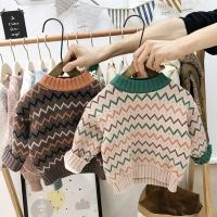 아동 배색 기모안감 스웨터 니트
