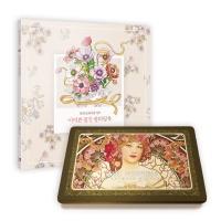 어여쁜 꽃말 컬러링북+아르누보 36색 색연필 틴케이스 세트