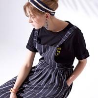 에이프런 드레스 Apron dress_NAVY