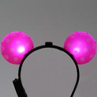 LED점등 미키머리띠 (핑크)