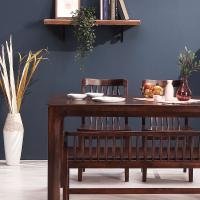 [채우리] 보그 4인 원목 식탁세트(의자/벤치)