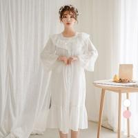 [쿠비카]이중 거즈면 원피스 여성잠옷 W524
