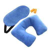 여행편의용품 4종세트 - 블루