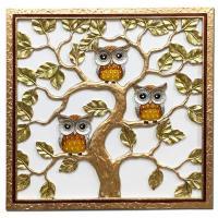 홈스타일링 부엉이 나무 부조액자CH1485733