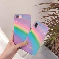 아이폰 무지개 그라데이션 실리콘 예쁜 휴대폰 케이스