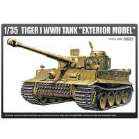 (아카데미과학-ACTA982) 1/35 독일군 중전차 타이거-I 초기형 (외장형) (13264) 탱크 프라모델