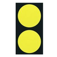 폼텍 마이스티커 도트 02 옐로우 50mm 시트[10시트]