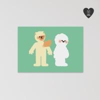 (유기견후원)독맨 엽서-fall in love