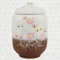 황토 쌀항아리 투톤코스모스 쌀독 용량10kg CH1398834