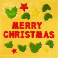 [인디고샵] 메리크리스마스 유리장식 젤리스티커