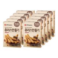 (한박스/10개입) 큐원 츄러스만들기믹스 (프라이팬용)