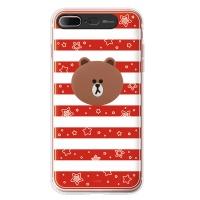 라인프렌즈 iPhone7 + BROWN Stripe-R LIGHT CASE