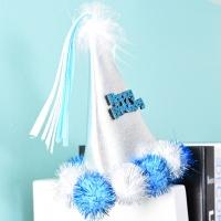 솜방울 생일고깔머리띠 [블루]