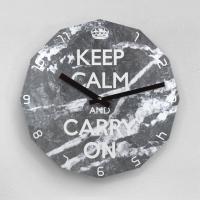 리플렉스 KEEP CALM AND CARRY ON 12각 무소음벽시계 KP12MBG
