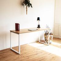 [채우리] 쿠드 1500 화이트 철제 책상/테이블