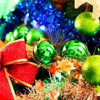 크리스마스 장식볼 오너먼트 5cm 16입 (그린)