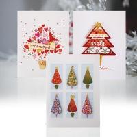 크리스마스카드/성탄절/트리/산타 미니세트 12종 set (FS504)