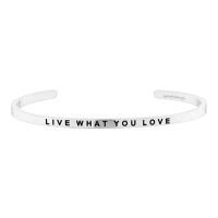 [만트라뱅글] LIVE WHAT YOU LOVE - 실버