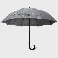 파라체이스 체크 패턴 곡자 그립 자동 장우산 1014