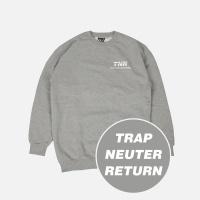 TNR 기모 맨투맨 - 그레이