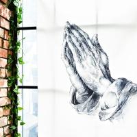 기도하는 손 패브릭 포스터 / 가리개커튼